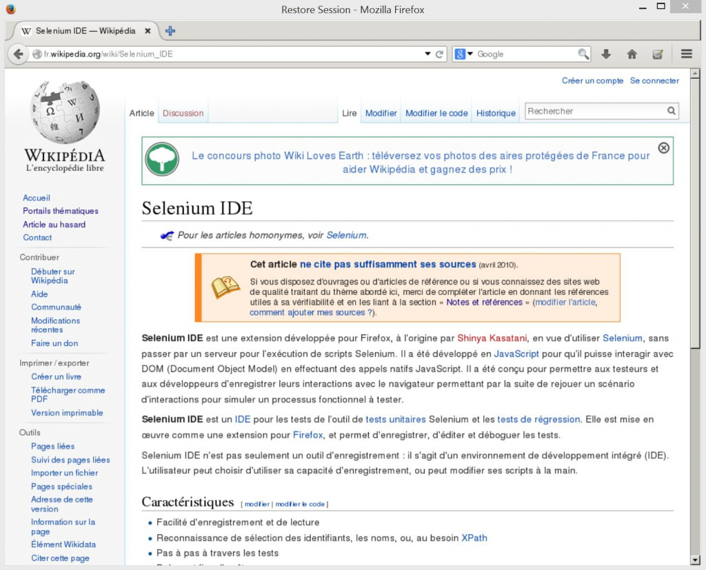 Ecran Firefox distant